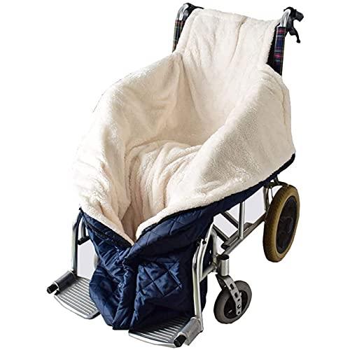 Gpzj Rollstuhl-Decke Mit Zipper, Cashmere-Gefüttert & Wasserdicht, Universal Fit Für Manuell Elektrisch Betriebene Rollstühle, Maschinenwaschbar