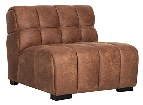 24Designs Waves Loveseat 90x96x74 - Gerecycled Leder Carlitto Cognac