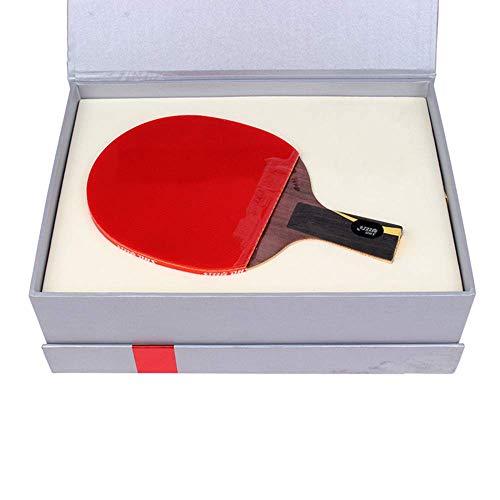 KCGNBQING Raqueta Profesional de Tenis de Mesa, Torneo Pingpong Paddle, Puede Mejorar la Fuerza de rotación de la Velocidad y la Fuerza de Control/como se Muestra/Mango Largo