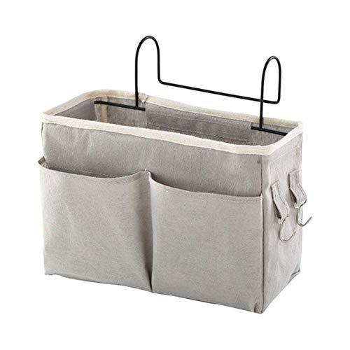 huyipin Bedside Storage Caddy Oxford Sofa Seite hängen Tasche Organizer Kleinigkeiten Zeitschriften Fernbedienung Inhaber Tasche (grey)