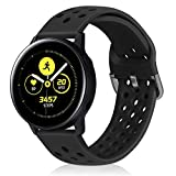 Runostrich 22mm Quick Release Silicone Watch Strap, Rubber Replacement Watch Bands Compatible with Galaxy 46mm, Gear S3 Frontier/Classic, Fossil Gen 5/Men's Gen 4/Women Gen 4 (22mm, Black)