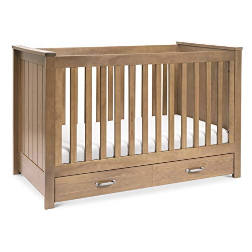 DaVinci Asher 3in1 Convertible Crib with Toddler Bed Conversion Kit in Hazelnut Greenguard Gold Certified