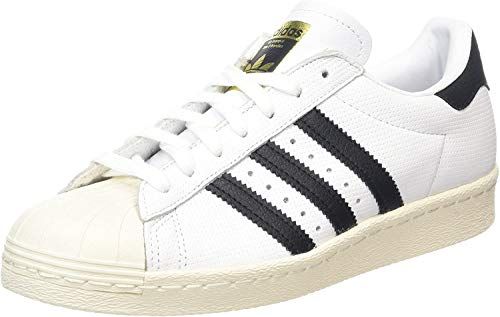 adidas Superstar 80s, Scarpe sportive Uomo, Running White / Trace Blue / Grey, 40 2/3 EU