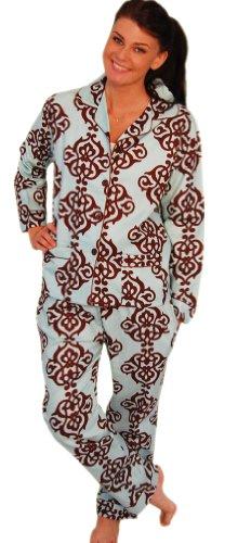 bSoft Shortbread Damask Bamboo Flannel Pajama