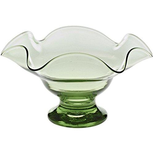 Coupelle en verre à pied, Saladier, Coupe décorative, Coupe à fruits, Collection\