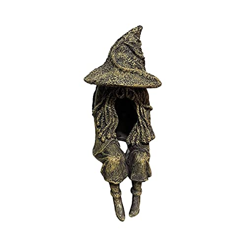 The Ghost Looking for Light Statue-Hell Messenger with Lanterna, Outdoor Witch Ghoul Lamp, Halloween Creative Witch Decoration Lamp, escultura de fantasma de resina realista para decoração de Halloween e jardim