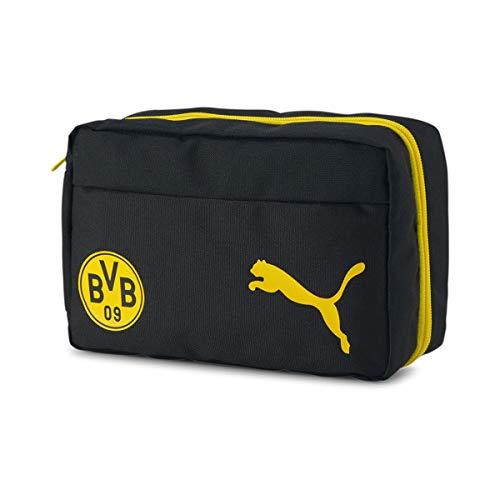 Puma Unisex-Erwachsene BVB Wash Bag Kulturbeutel, Puma Black-Cyber Yellow, OSFA
