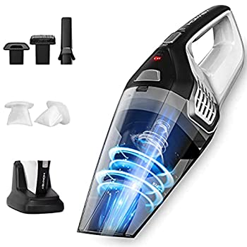 Homasy Handheld Vacuum Cordless 8Kpa Hand Vacuum with Powerful Cyclonic Suction Portable Vacuum Cleaner with Long Lasting up to 30mins  Wet&Dry 3H Charging  for Pet Hair Dust,Gravel,Home Cleaning