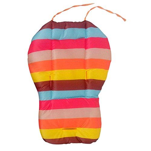 Domybest bébé Épaisseur coloré Poussette de Galette de chaise bébé étanche landaus Coussin de chaise Rainbow