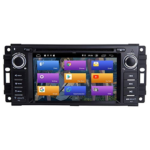 BOOYES per Jeep Wrangler JK Dodge RAM Challenger Dodge Journey Chrysler 300C Android 10.0 Autoradio Sistema Stereo GPS Auto Lettore multimediale Car Auto Play/TPMS/OBD / 4G WiFi/Dab