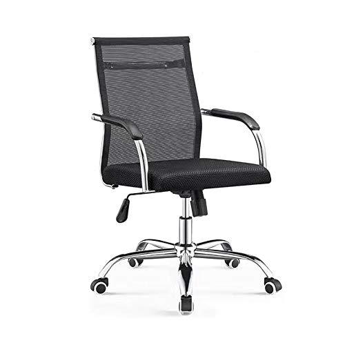Kruk MEIDUO Draaibare bureaustoel met gebogen hoge rugleuning, Lumbar ondersteuning, Ergonomisch gaas computerstoel Home Office bureaustoel, in hoogte verstelbaar, 2 kleuren
