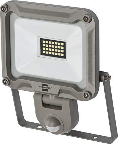 Brennenstuhl LED Strahler JARO 2000P / LED-Strahler für außen mit Bewegungsmelder (LED-Außenstrahler zur Wandmontage, LED-Fluter 20W aus Aluminium, IP44) silber