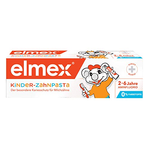 elmex Kinder-Zahnpasta, 1 x 50 ml - Zahncreme für Kinder von 2-6 Jahren