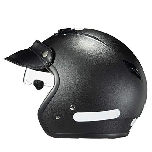 GAOZ Helmet- Casco para Motocicleta,Street Bike Cruiser Chopper Moped Scooter Casco de Moto Harley Medio Casco con Gafas de Sol incorporadas Cascos de Moto Dot Homologado