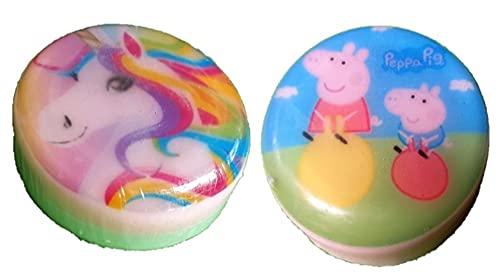Little Warriors Handmade 3D Toys Kids Bath Soaps Pure Organic Goat Milk- Pack of 2- Unicorn and Peppa Pig (2 x 100 g)