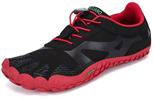 SAGUARO Hombre Mujer Zapatos Minimalistas Comodas Respirable Zapatillas de Trail Running Ligeras...