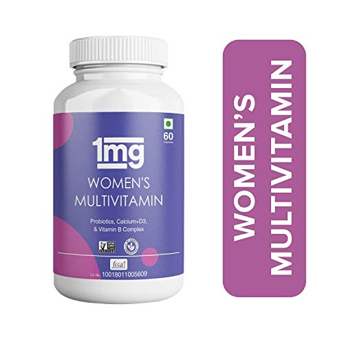 1mg Women's Multivitamin Tablets With Probiotics, Calcium+ D3 and Vitamin B - 60 Capsules