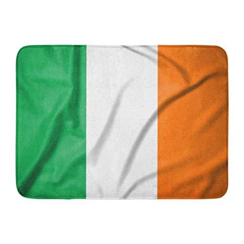 AoLismini Fußmatten Bad Teppiche Outdoor/Indoor Türmatte Dublin Irland Flagge auf & Glatte Seide Irish Abstract Actions Nahaufnahme Badezimmer Dekor Teppich Badematte