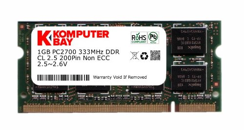 Komputerbay 1 GB DDR PC2700 DDR333 333 MHz (200 Pin) Laptop Notebook Speicher SODIMM