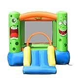 COSTWAY Castello Gonfiabile per Bambini, Casa Gonfiabile con Scivolo e Rete di Sicurezza, Ideale per Bambini 3-10 Anni, 270 x 203 x 173 cm
