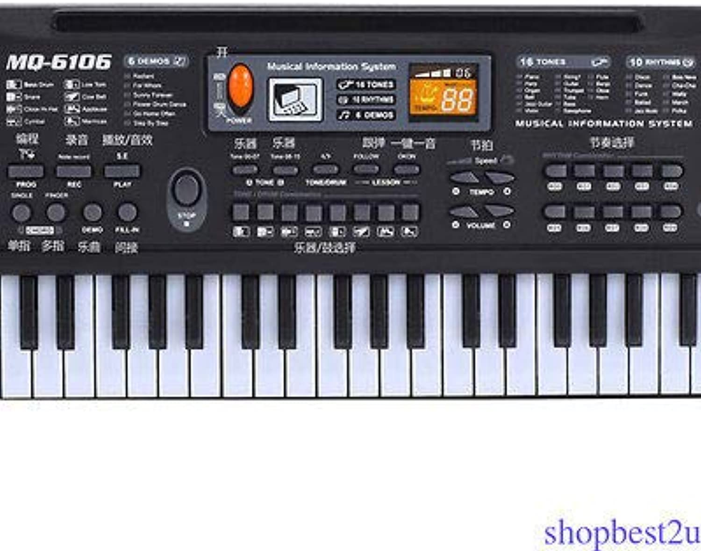 FidgetGear Electronic Music Keyboard Piano 61 Keys Musical Electric Piano w  Mic Portable