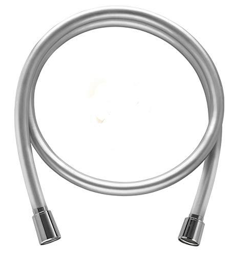 Hochwertiger Brauseschlauch von SHP – mit genormtem Universal-Anschluss und antibakterieller Oberfläche. Duschschlauch in silberglatt mit Verdrehschutz - Länge von 100 cm