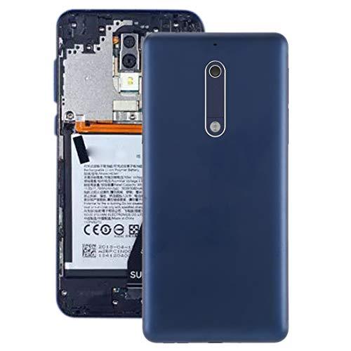Compatibele Vervangings Batterij Back Cover met Camera Lens & zijtoesten for Nokia 5 Accessory (Color : Blue)