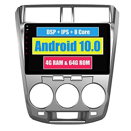 RoverOne 10,2 Pouces Système Android Octa Core pour Honda City 2008 2009 2010 2011 2012 Autoradio avec Navigation GPS Bluetooth stéréo Miroir Link Full écran Tactile