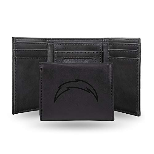 NFL Rico Industries Laser Engraved Trifold Wallet, Los Angeles Chargers, 3.25 x 4-inches