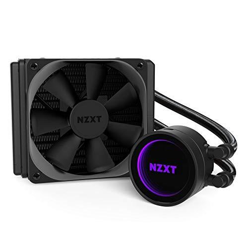 NZXT Kraken M22 120 mm - Refrigerador líquido de CPU RGB - Con tecnología CAM - Diseño de espejo infinito - Tubos extendidos reforzados - Ventilador de radiador PWM Aer P 120 mm (incluido)