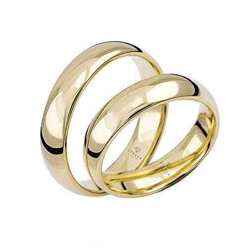 Paar 333 Gold Klassische Trauringe Gold Hochzeitsringe Eheringe Paarring inkl. Etui und Gravur
