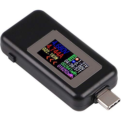 ICQUANZX Type-C USB Tester USB Power Meter, USB C Voltage Tester Multimeter 0-5A 4-30V Current Meter Tester, USB-C Charger Tester, Color Display Type C Voltmeter Ammeter.