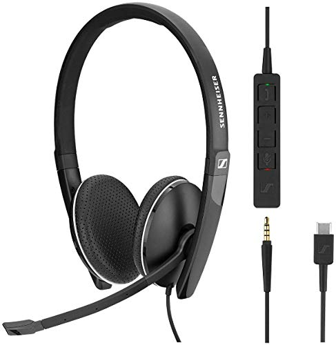 Sennheiser SC 165 USB-C Binaural Diadema Negro - Auriculares con micrófono (Media/Comunicación, Binaural, Diadema, Negro, Alámbrico, USB Tipo C)