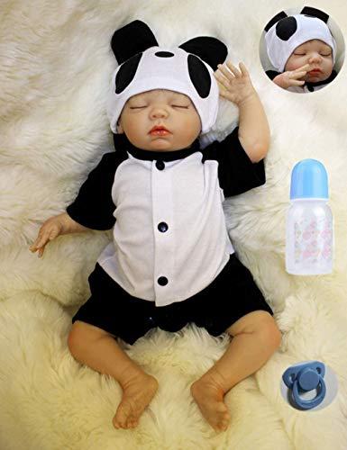 ZIYIUI Renacimiento Baby Doll 20 Pulgadas 50 cm recién Nacido Realista, Mirando al bebé Real muñeca de Silicona Suave Hecha a Mano de Vinilo recién Nacido