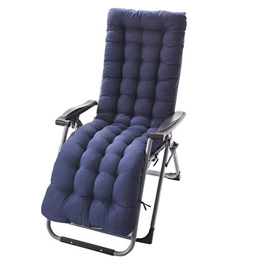 HEWEI kussen voor ligstoel, met bevestigingen, futon, gewatteerd, schommelstoel, demping voor patio, tuin, binnen, buiten, zonnebad, matras, zwart, 155 x 48 cm (61 x 19 inch)