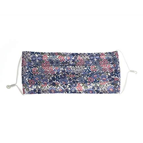 Shineshae Erwachsene Unisex Outdoor Staub Half Face Cover mit Blumen Motiv, Atmungsaktiver Mundschutz Bandanas Face Shield Soft Atemschutz Filter Wiederverwendbare, aus Baumwolle
