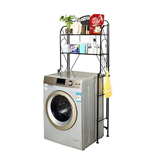 Unità a mensola in piedi Ferro Battuto lavatrice Scaffale, bagno privato servizi igienici Rack, multiuso storage rack, balcone Drum lavatrice Rack, forte e conduzione Capacità (H: 165 cm) rack da bagn