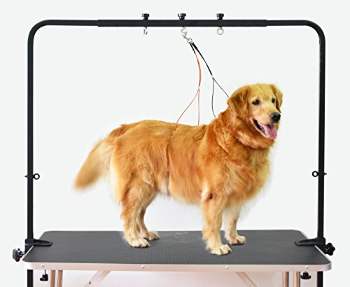 SHELANDY Overhead pet Grooming arm/Bars with Clamps Ideal for Dog Bathing & Grooming