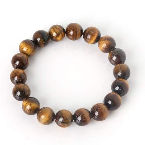 KEJI 6Mm/8Mm/10Mm Pulsera del encanto con Perlas de Piedra Natural Amatistas Púrpura Pulsera con Cuentas Para Hombres Mujeres Joyería Regalos
