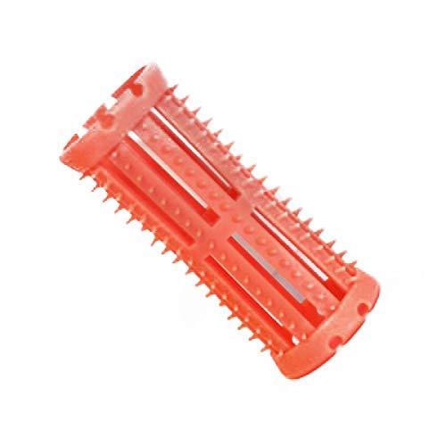 Skelox - Pack de 12 Rouleaux en Plastique pour Cheveux - Taille Petit - 26mm - Rose