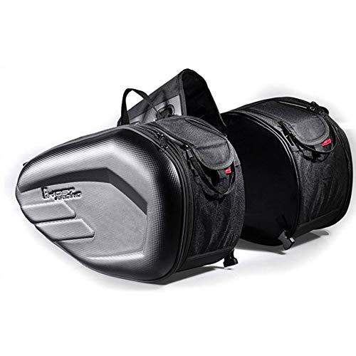 Bagage zadeltas voor motorfiets, grote capaciteit, 58 liter, zwart