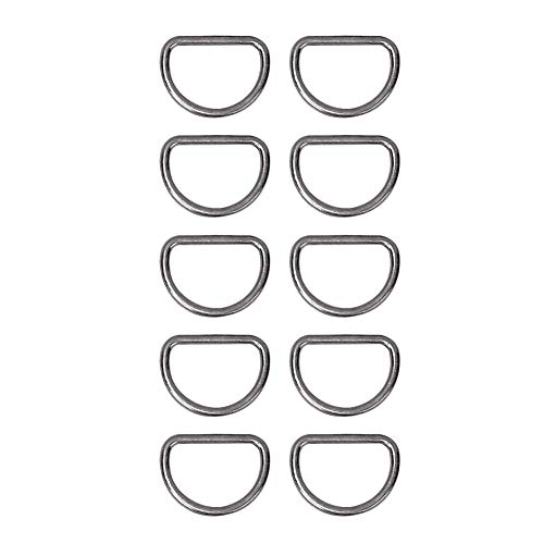 D Ring Gesp, 10 STKS Zilver Metaal Zware D Ringen 15mm Aanpassen Loop Legering D-ring voor Tas Kleding Riem Singels(tin)