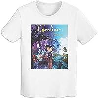 プリント 半袖シャツ メンズ T-Shirt Coraline コララインとボタンの魔女 Tシャツ White Xxl