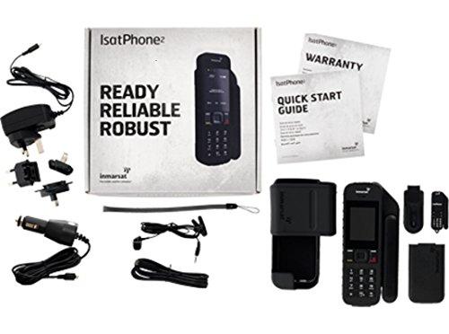 Inmarsat IsatPhone 2: Teléfono vía satélite con Tarjeta SIM de Prepago con 100 Unidades Válidas por 90 Días