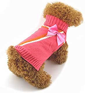 DOGGYZSTYLE Dog Sweaters Pet Clothes Animal Print Puppy Cat Knitted Sweaters Jacket Coat Apparel