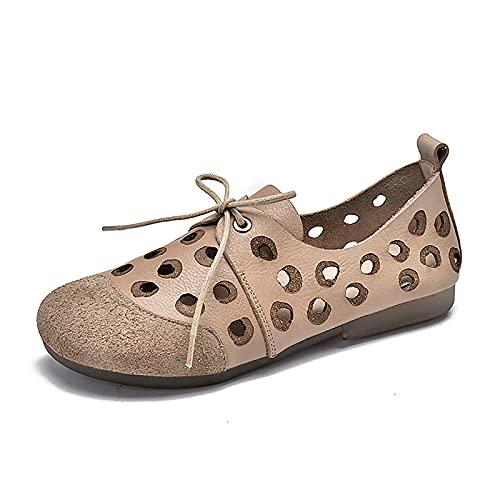 OJBK Sandalias De Verano para Mujer Zapatos Playa Cómodos Sandalia Punta Cerrada Vintage Casual Plataforma Antideslizante Cuña Gladiador Correa Tobillo Al Aire Libre Caminar,Blanco,36