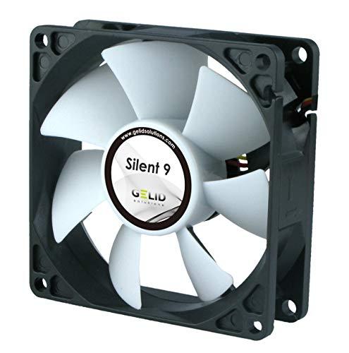 GELID SOLUTIONS Silent 9 de 3 Pines   Ventilador de 92mm para Cajas de PC estándar   Operación silenciosa   Aspas del Ventilador optimizadas