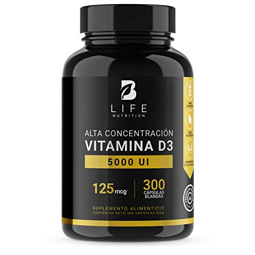 Vitamina D3 5000 UI de 300 softgels B Life