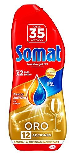 Somat Oro Gel Lavavajillas Vinagre - 35 Lavados (630 ml)