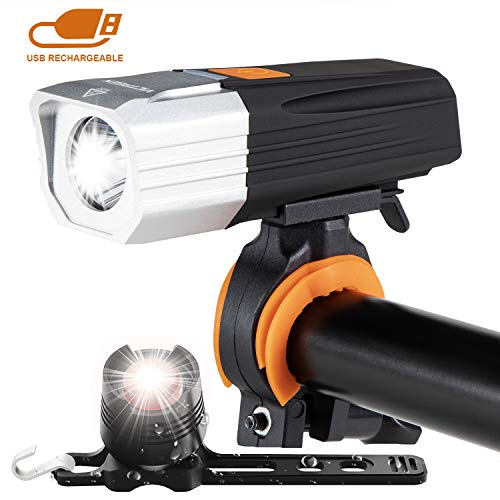victagen USB Rechargeable Bike Light & Rechargeable Bike Taillight,Powerful 1000 Lumens Easy to Install Fit All Bicycles MTB Kids Men Road Bikes